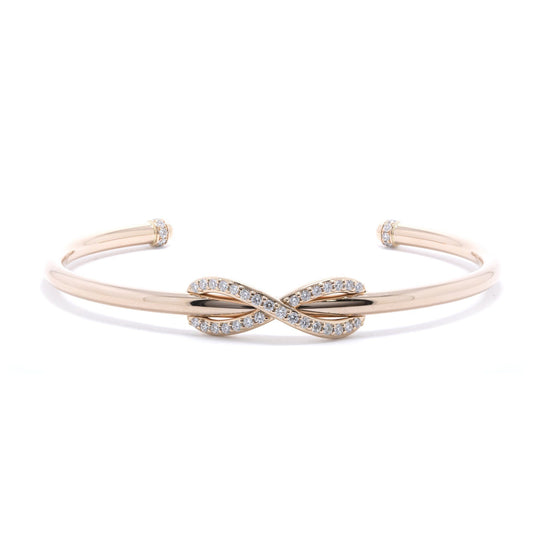 Tiffany & Co. 18k Rose Gold Infinity Cuff Bracelet with Diamonds Bracelets Tiffany & Co.
