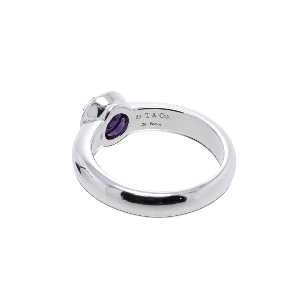 Tiffany & Co. 18k White Gold Amethyst Bullet Ring Rings Tiffany & Co.