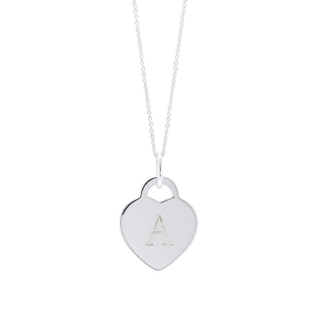 Tiffany & Co. Alphabet Letter 'A' Heart Tag Pendant Necklace Necklaces Tiffany & Co.