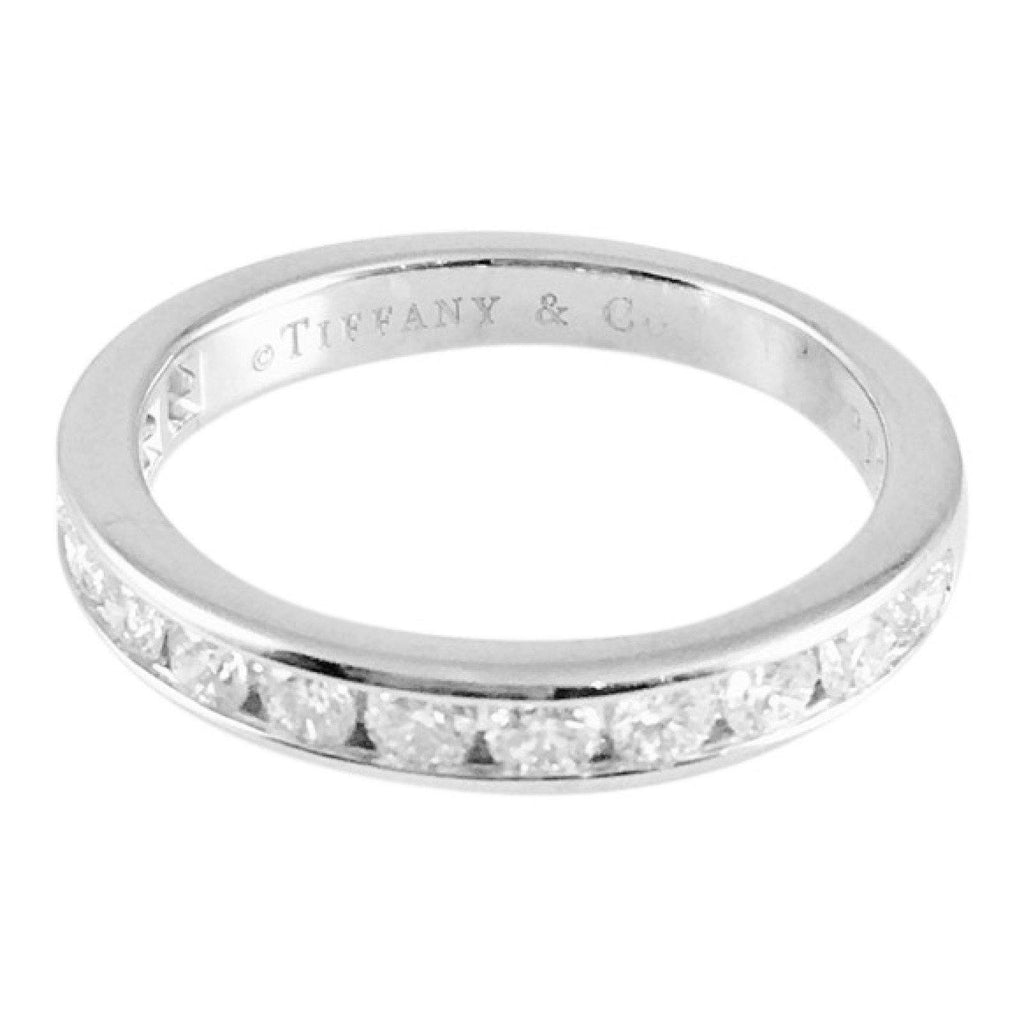 Tiffany & Co. Channel-Set Half Circle Diamond Wedding Band Rings Tiffany & Co.