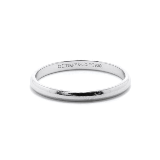 Tiffany & Co. Classic Platinum Wedding Band Ring Rings Tiffany & Co.