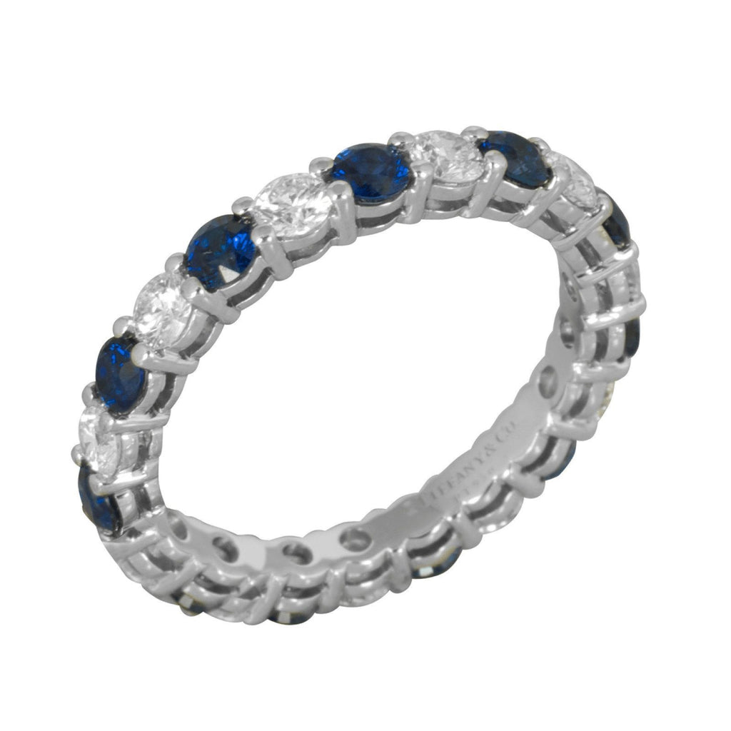 Tiffany & Co. Diamond and Sapphire Eternity Band Rings Tiffany & Co.