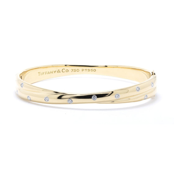 Tiffany & Co. Diamond Etoile Twist Bangle Bracelet Bracelets Tiffany & Co.