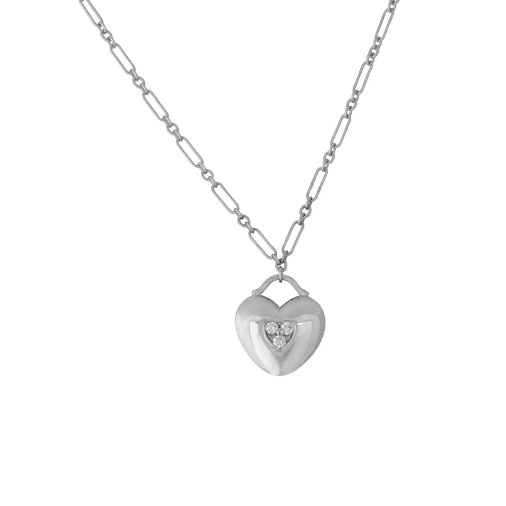 Tiffany & Co. Diamond Heart Lock Pendant Necklaces Tiffany & Co.