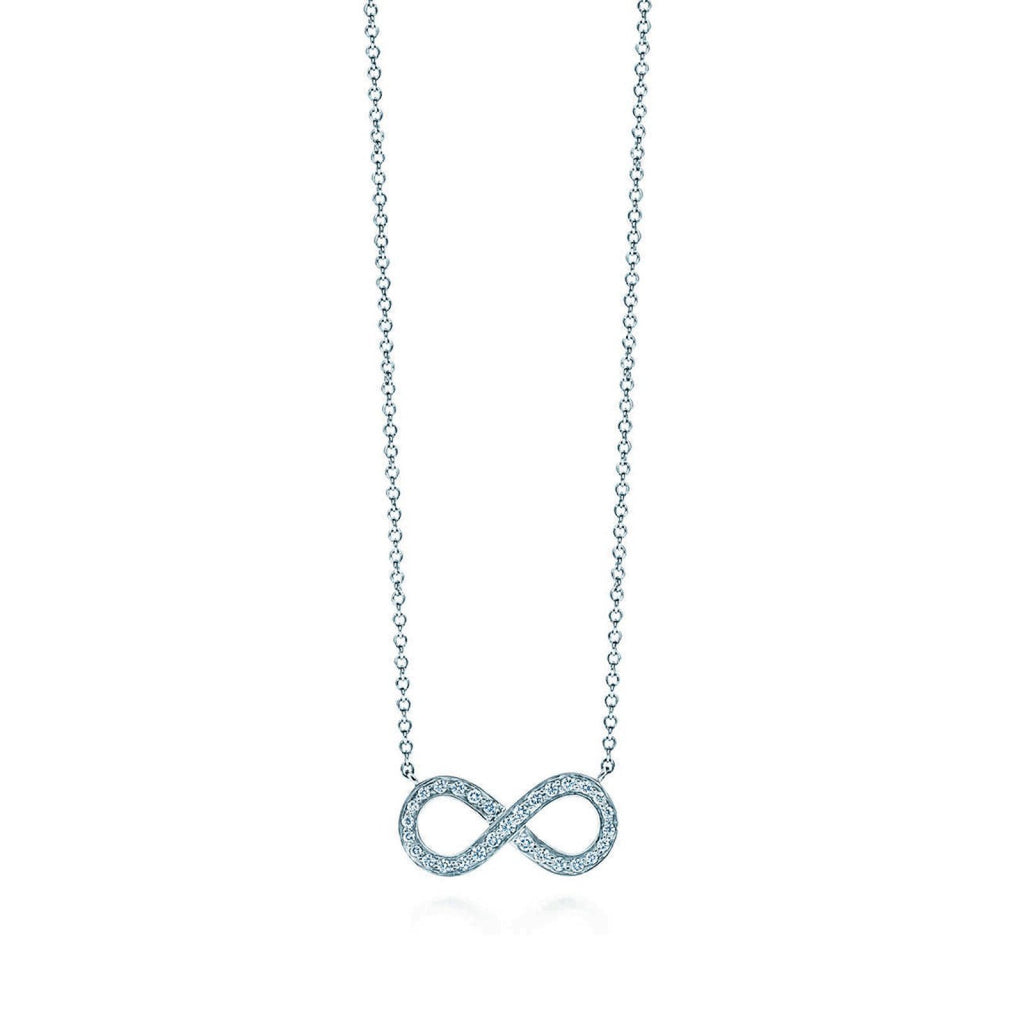 Tiffany & Co. Diamond Infinity Pendant Necklace - Necklaces