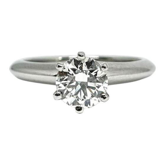 Tiffany & Co. Solitaire 0.94ct Round Diamond Engagement Ring Rings Tiffany & Co.