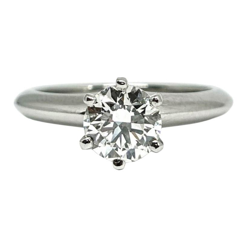 38eab09866711 Tiffany & Co. Solitaire 0.94ct Round Diamond Engagement Ring