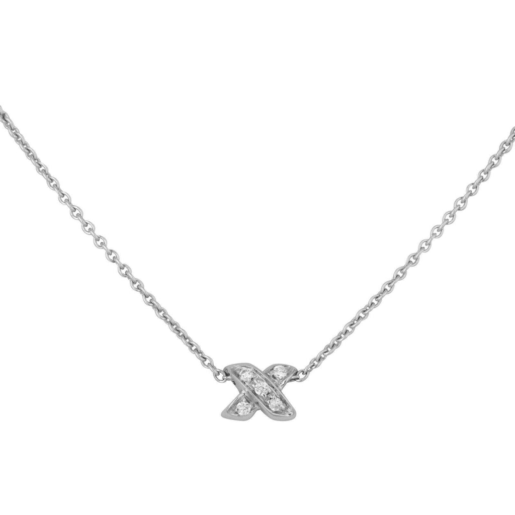 Tiffany & Co. Diamond 'X' Pendant Necklace Necklaces Tiffany & Co.