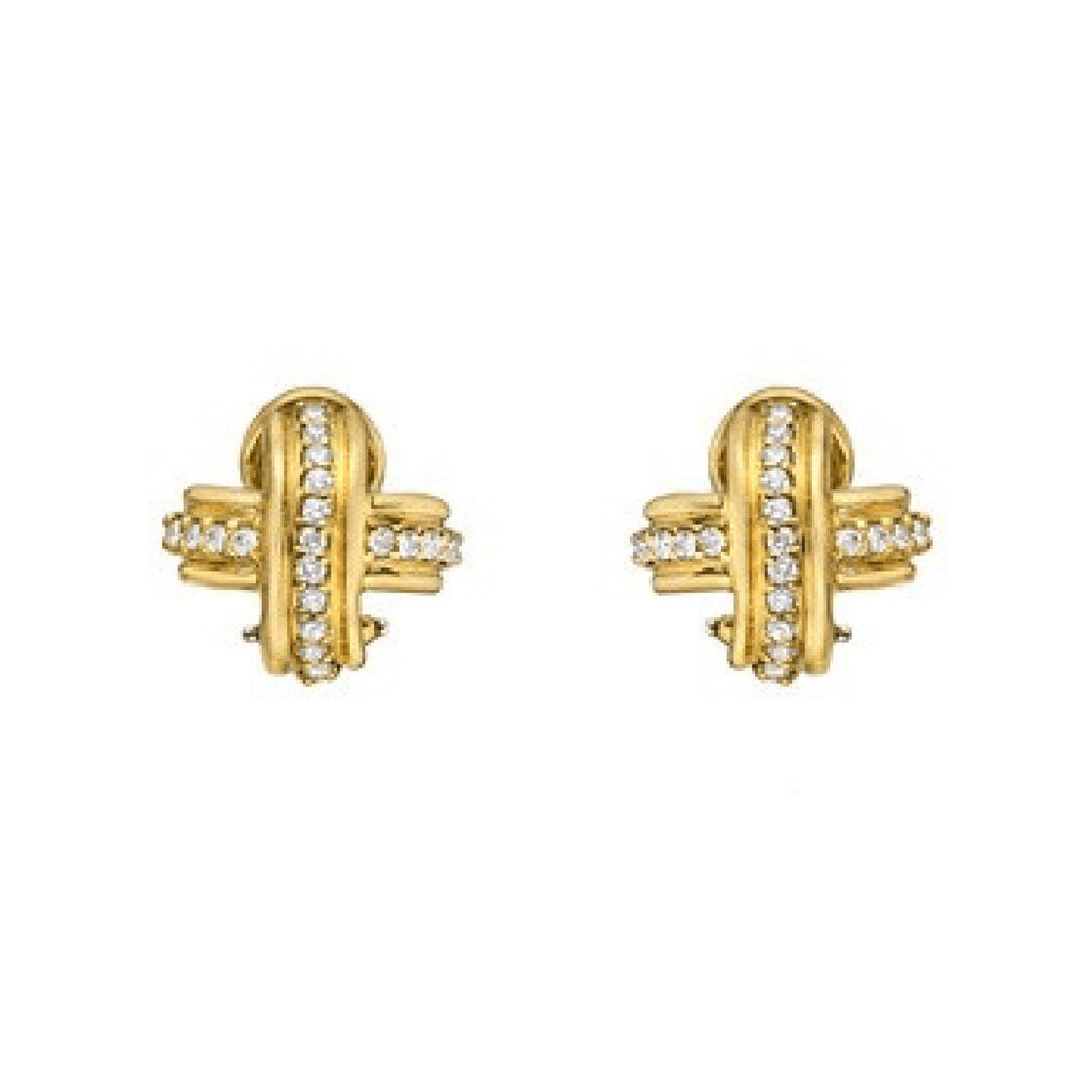 "Tiffany & Co. Diamond X ""SIgnature I"" Earrings Earrings Tiffany & Co."