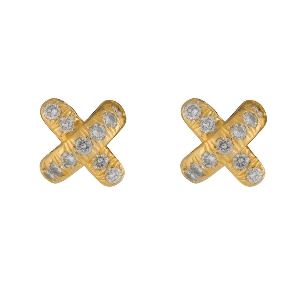 Tiffany & Co. Diamond X Stud Earrings Earrings Tiffany & Co.