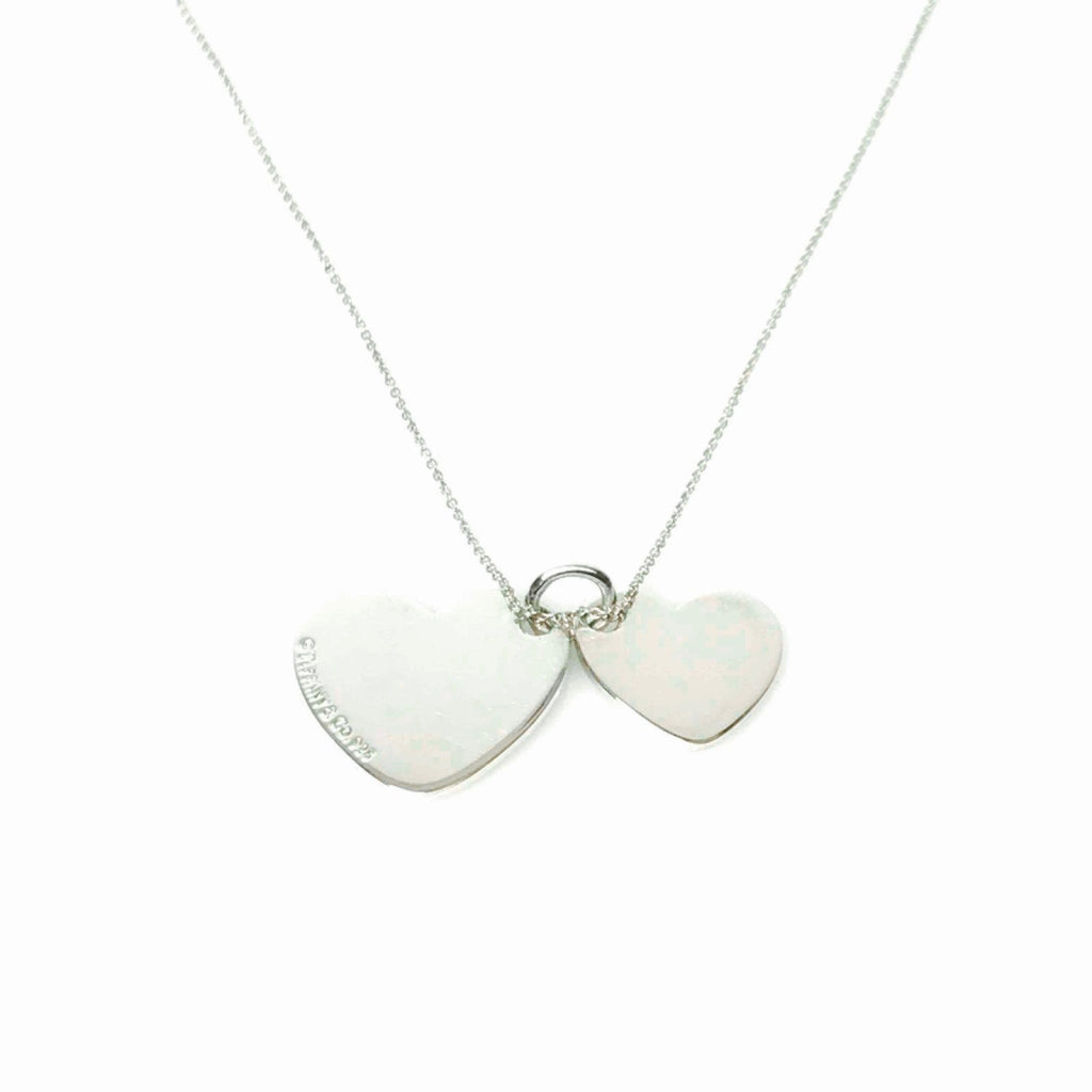 Tiffany & Co. Double Heart Tag Pendant Necklace Necklaces Tiffany & Co.