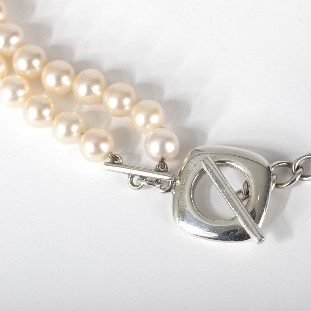 Tiffany & Co. Double Strand Pearl Toggle Necklace Necklaces Tiffany & Co.