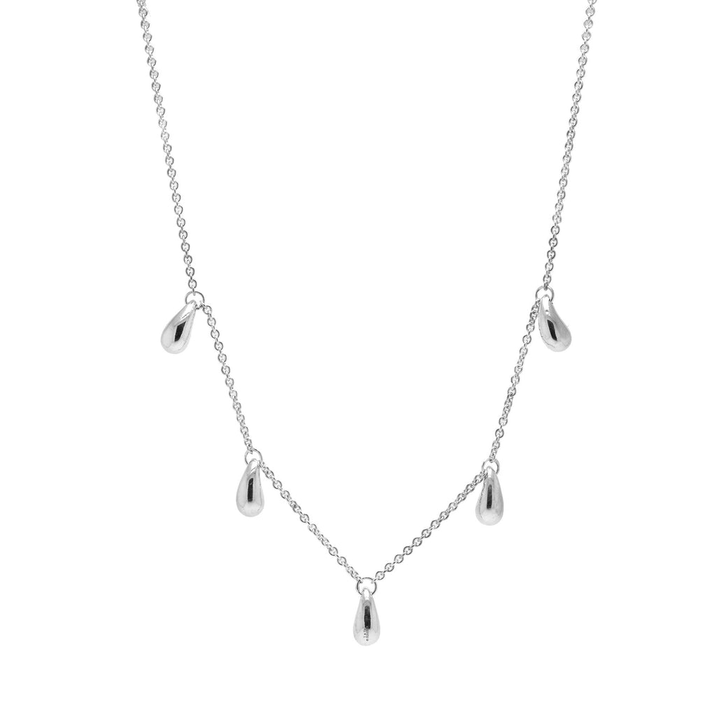 Tiffany & Co. Elsa Peretti Five Teardrop Station Necklace Necklaces Tiffany & Co.