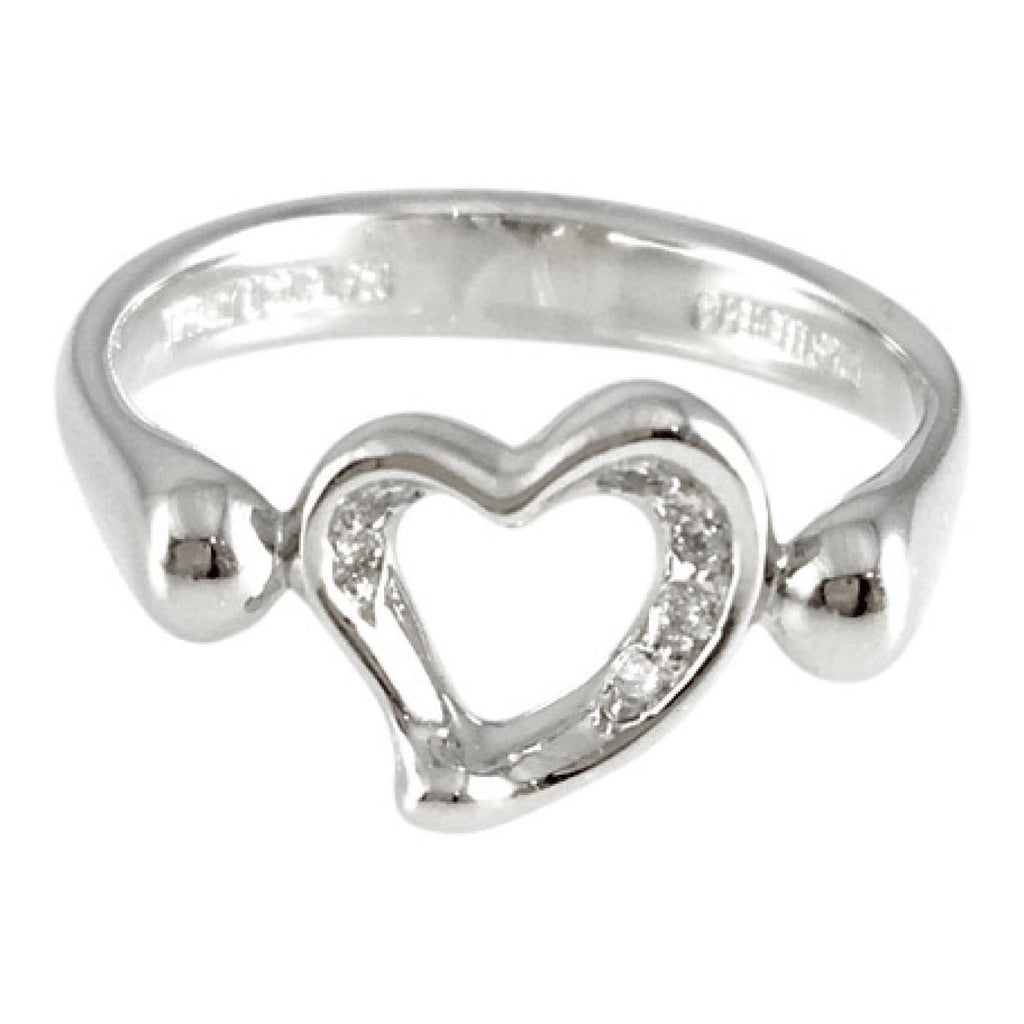 Tiffany & Co. Elsa Peretti Mini Open Heart Diamond Ring Rings Tiffany & Co.