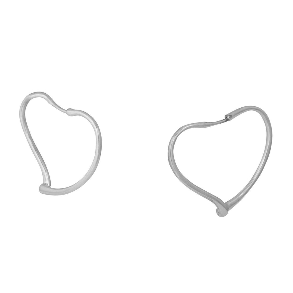Tiffany & Co. Elsa Peretti Open Heart Hoop Earrings Earrings Tiffany & Co.