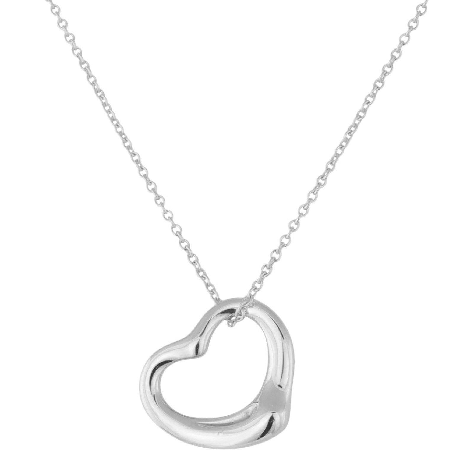2c7bb769e88 Tiffany & Co. Elsa Peretti Open Heart Pendant on a 18