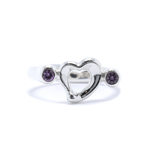 Tiffany & Co. Elsa Peretti Pink Sapphire Open Heart Ring Rings Tiffany & Co.