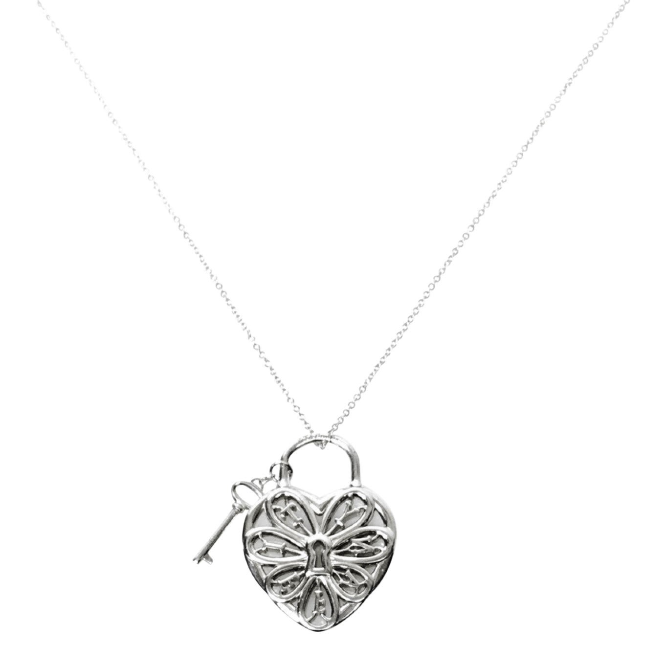 Tiffany co filigree heart pendant with key oliver jewellery tiffany co filigree heart pendant with key necklaces aloadofball Image collections