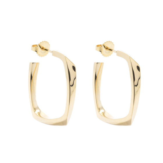 Tiffany & Co. Frank Gehry 18k Gold Torque Hoop Earrings Earrings Tiffany & Co.