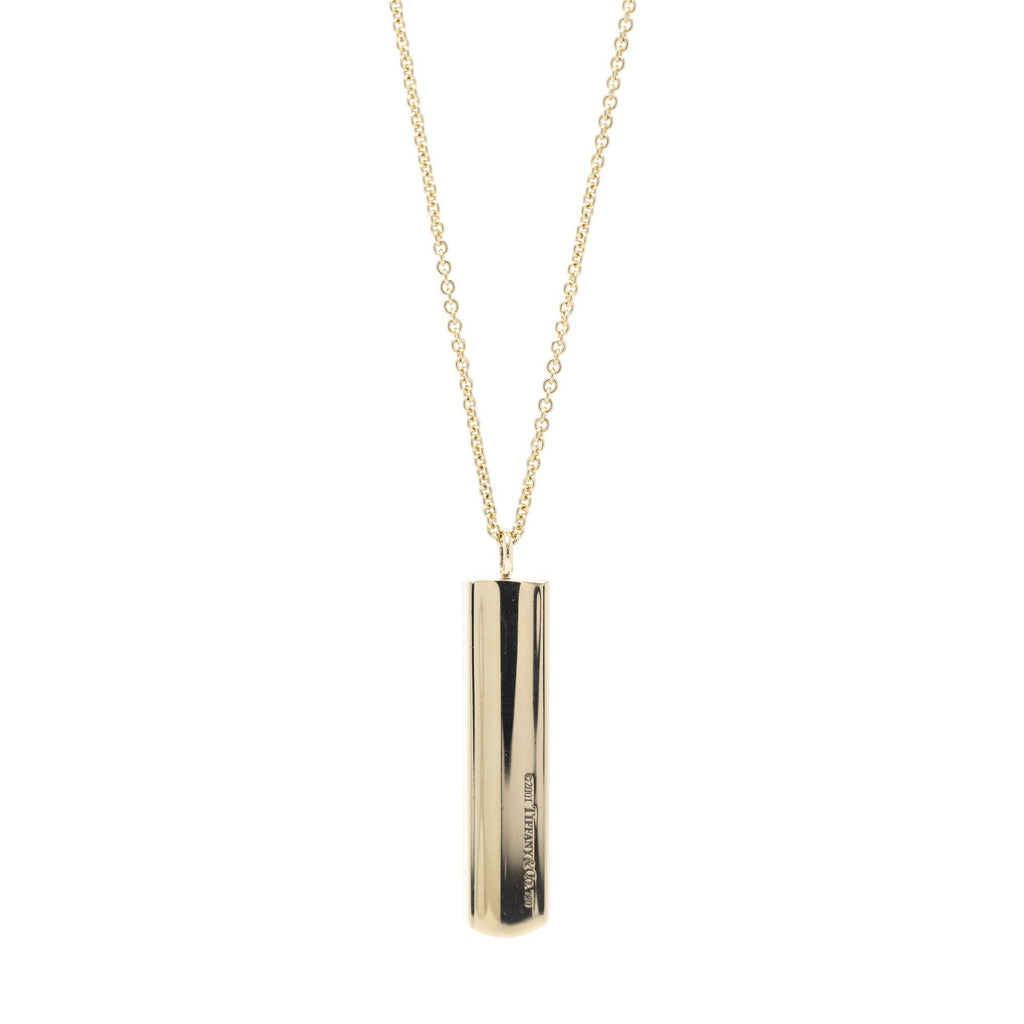 Tiffany & Co. Gold 1837 Bar Pendant Necklace Necklaces Tiffany & Co.