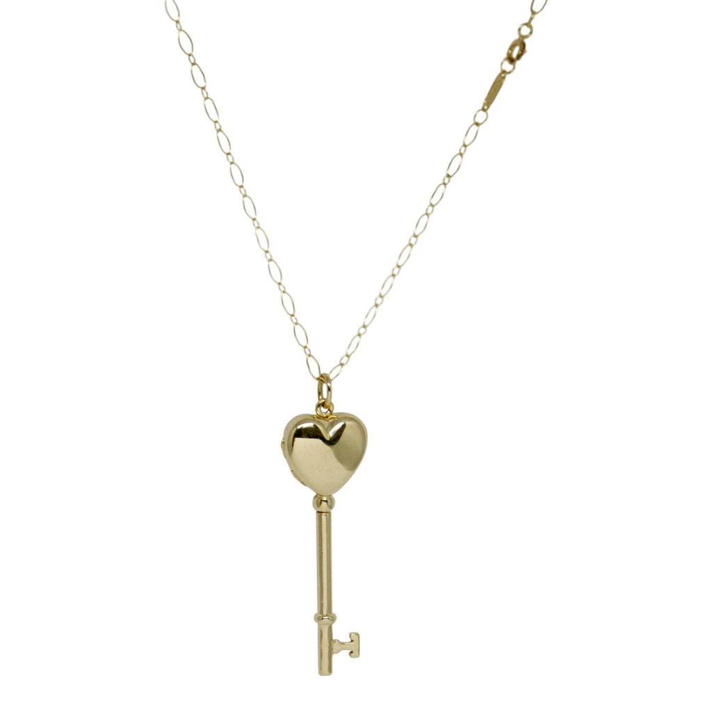 Tiffany & Co. Heart Key Locket Pendant Necklace Necklaces Tiffany & Co.