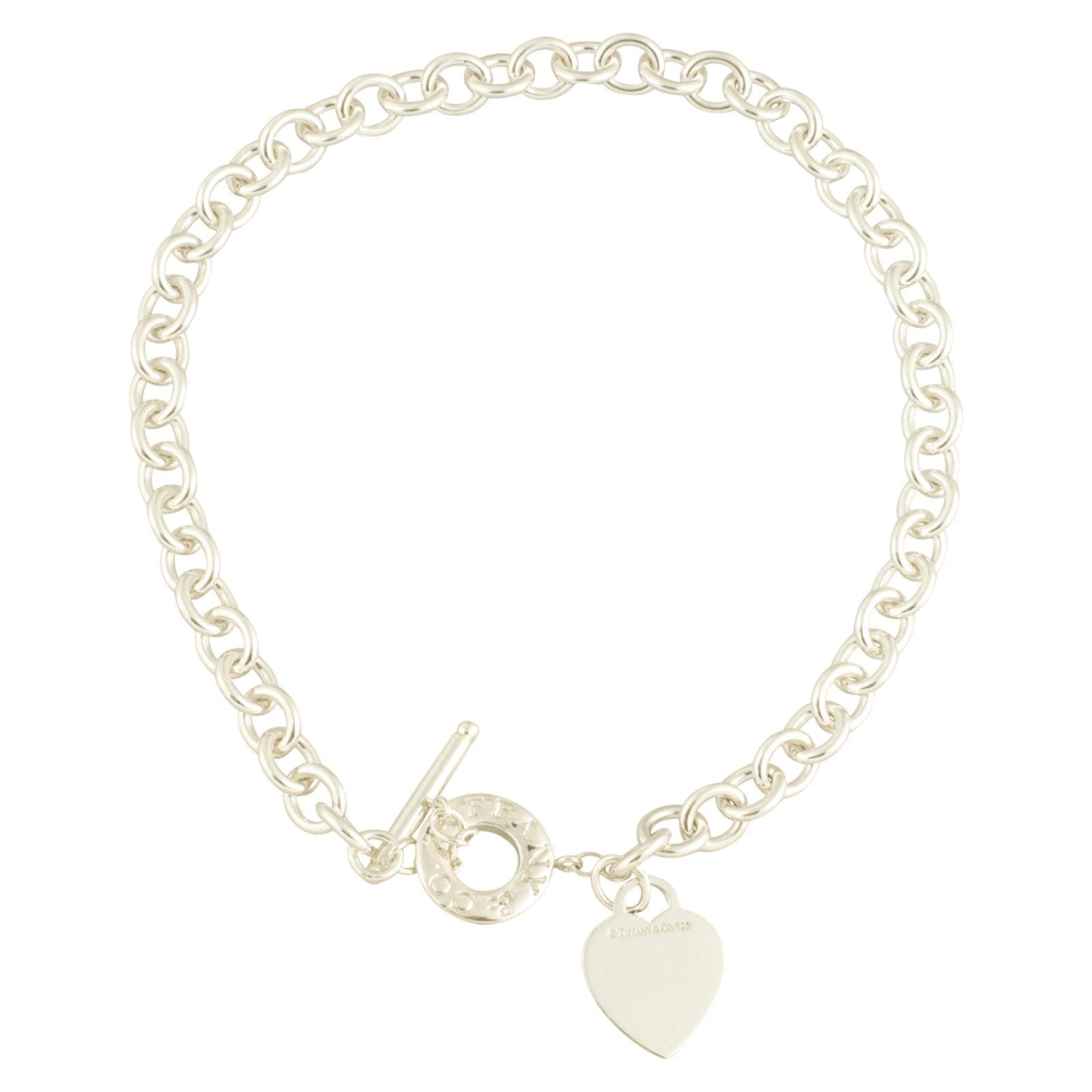 afa2d8a3f3dba Tiffany & Co. Heart Tag Necklace with Toggle Clasp in Sterling Silver