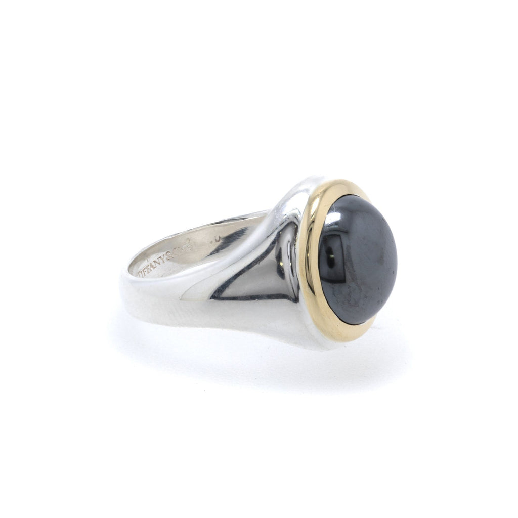Tiffany & Co. Hematite Two-Tone Cocktail Ring Rings Tiffany & Co.