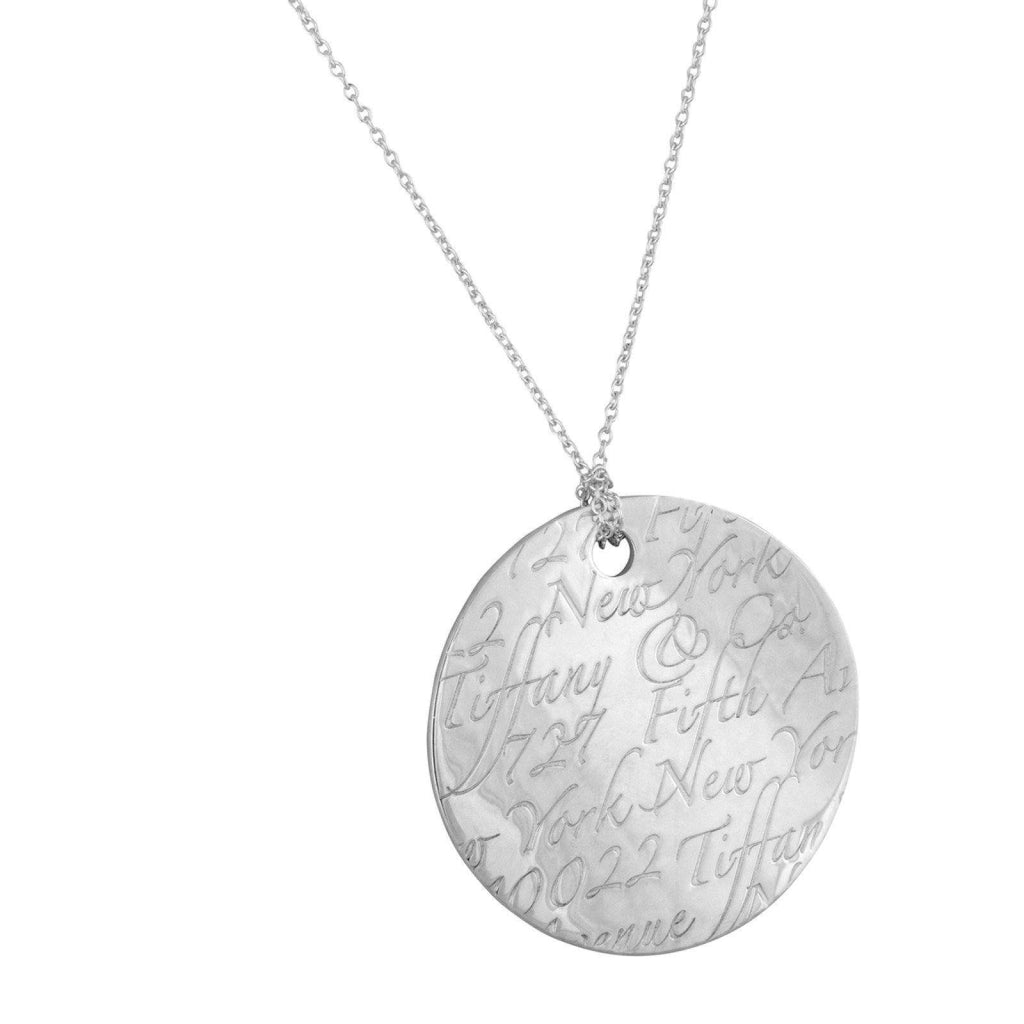 Tiffany & Co. Large Notes Round Pendant Necklaces Tiffany & Co.