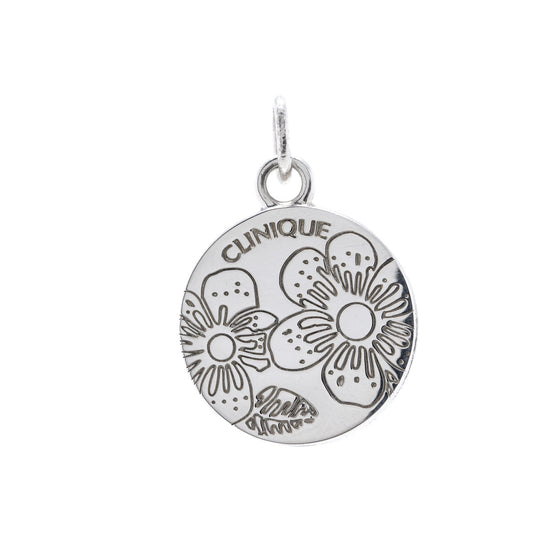 Tiffany & Co. Limited Edition Clinique Flower Round Charm Pendant Charms & Pendants Links of London