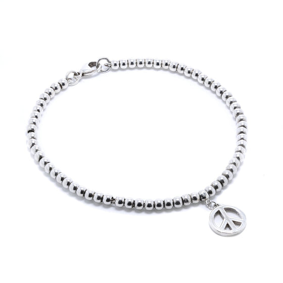 Tiffany & Co. Mini Peace Charm Bead Bracelet Bracelets Tiffany & Co.