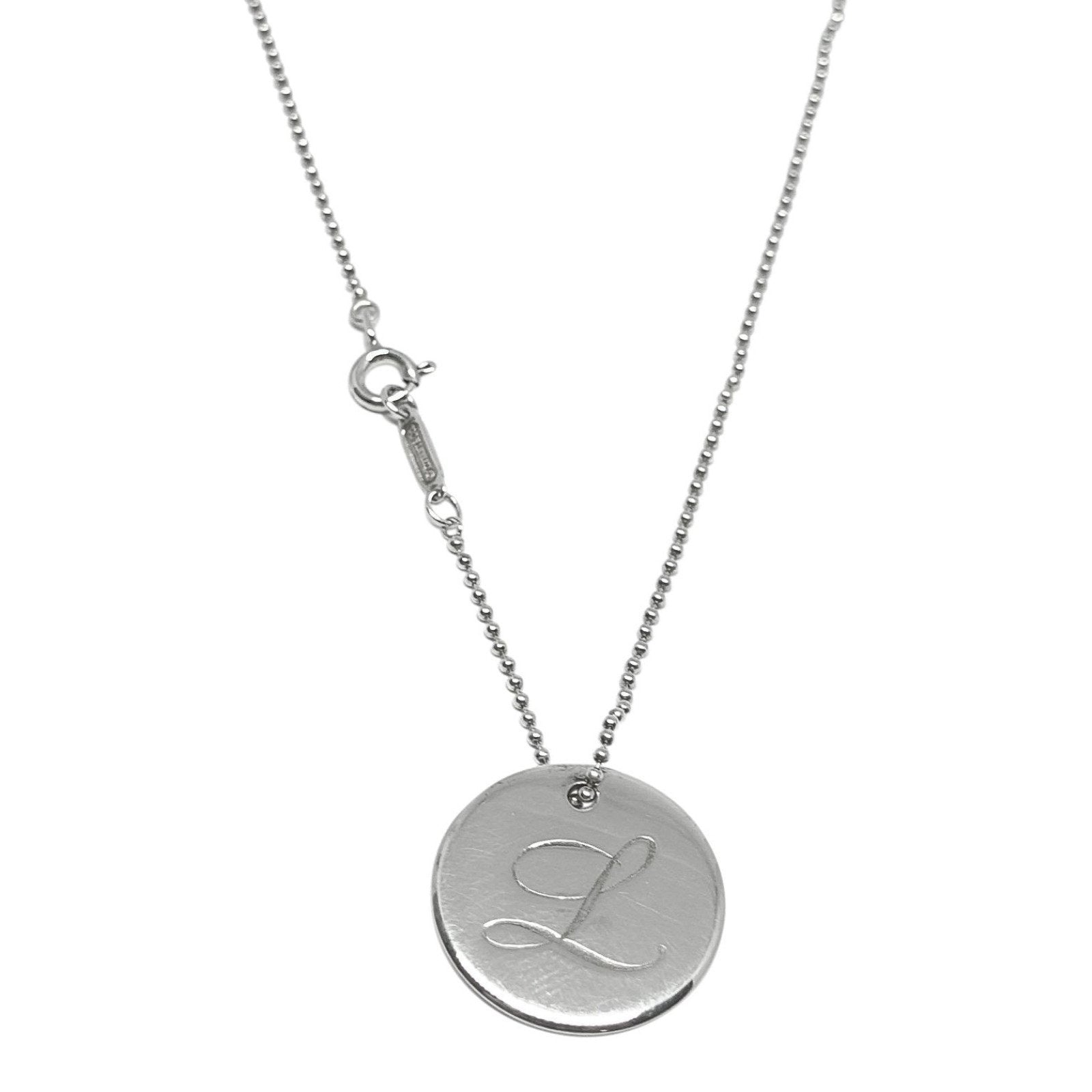 cd05581fe Tiffany & Co. Notes Letter 'L' Disc Charm Pendant Necklace Necklaces Tiffany  ...