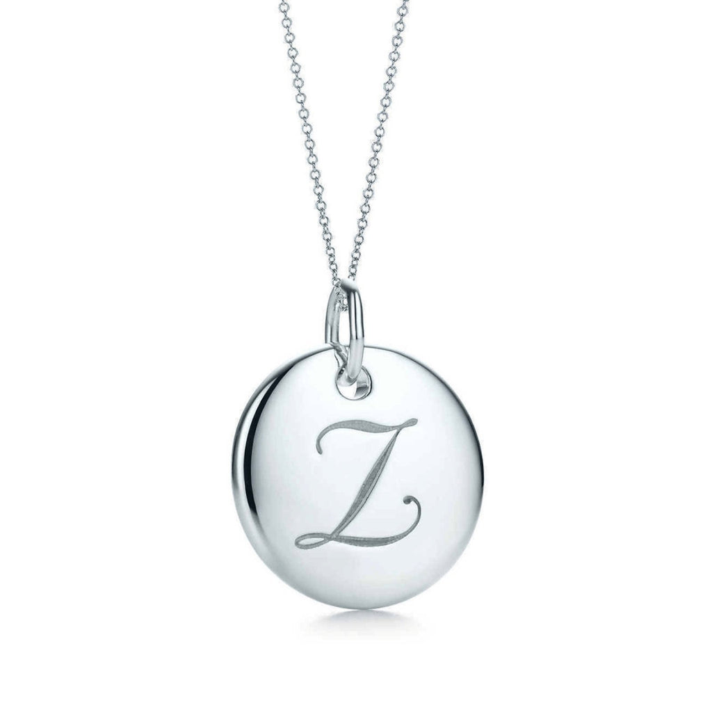 "Tiffany & Co. Notes ""Z"" Disc Charm Pendant Necklace Necklaces Tiffany & Co."