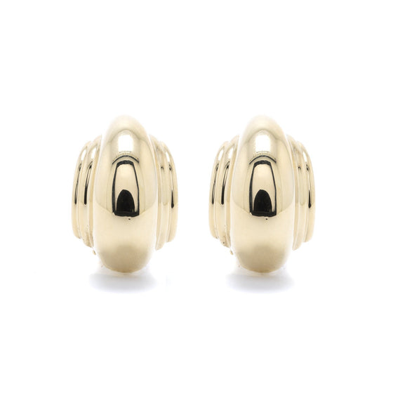 Tiffany & Co. Paloma Picasso 18k Gold Domed Earrings Earrings Tiffany & Co.