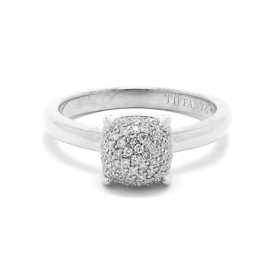 c60530ef3 Tiffany & Co. Paloma Picasso 18k White Gold & Diamond Sugar Stacks Ring  Rings Tiffany