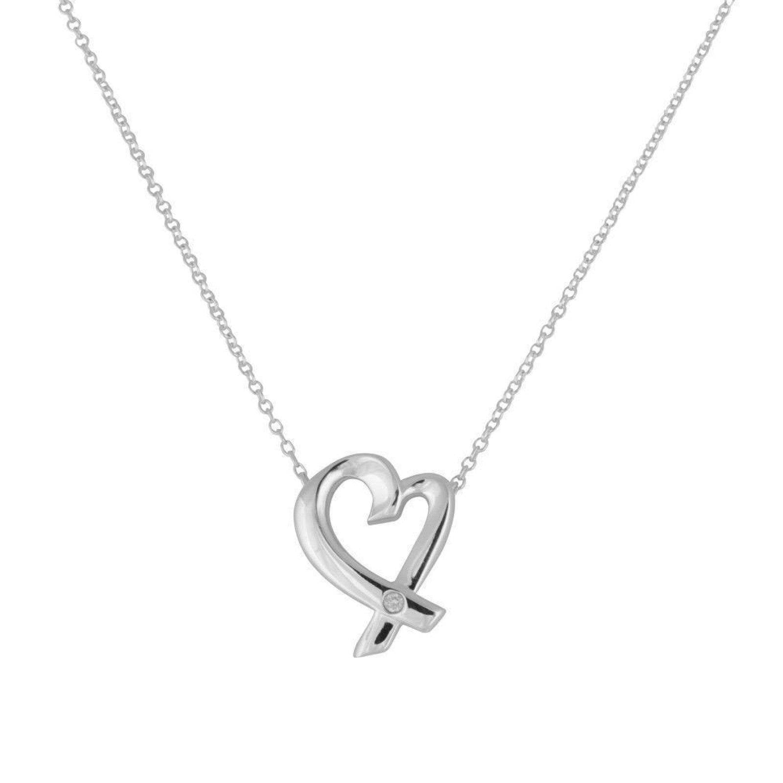 08b4821864b6b Tiffany & Co. Paloma Picasso Loving Heart Pendant Necklace in Sterling  Silver