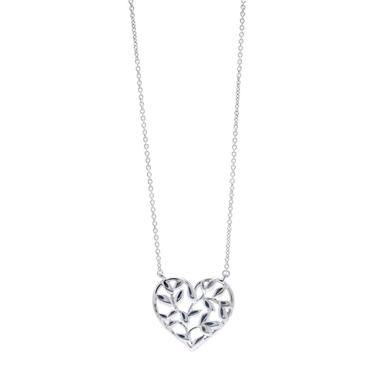 Tiffany & Co. Paloma Picasso Olive Leaf Heart Pendant Necklace Necklaces Tiffany & Co.