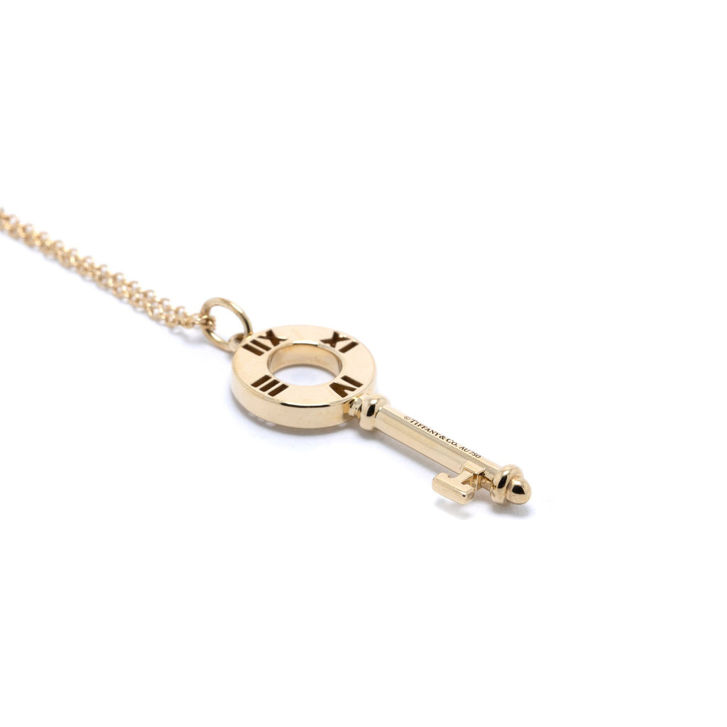 Tiffany & Co. Pierced Atlas Key Pendant Necklace with Diamonds Necklaces Tiffany & Co.