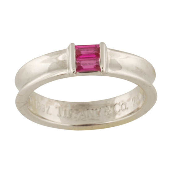 Tiffany & Co. Pink Sapphire Square Stacking Ring Rings Tiffany & Co.