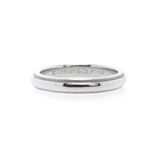 Tiffany & Co. Platinum Classic Milgrain Wedding Band Ring Rings Tiffany & Co.