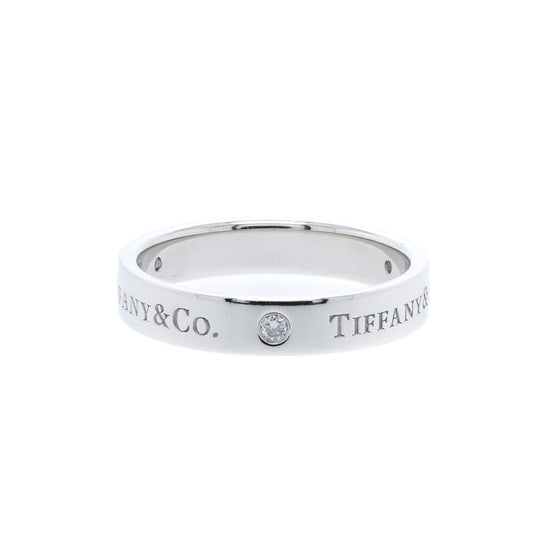 Tiffany & Co. Platinum & Diamond Band Ring Rings Tiffany & Co.
