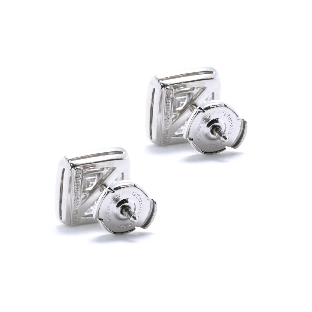 Tiffany & Co. Platinum & Diamond Halo Stud Earrings Earrings Tiffany & Co.