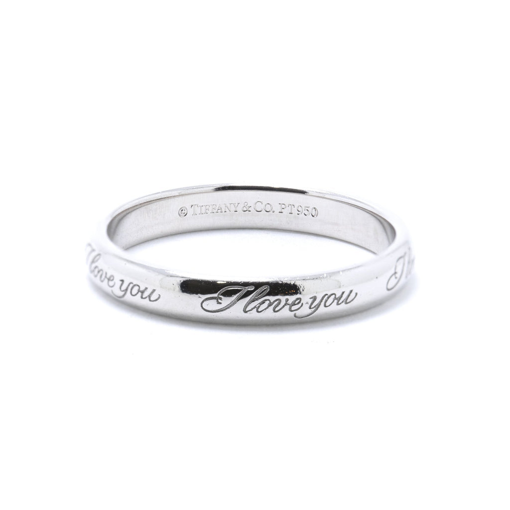 "Tiffany & Co. Platinum Notes ""I Love You"" Ring Rings Tiffany & Co."