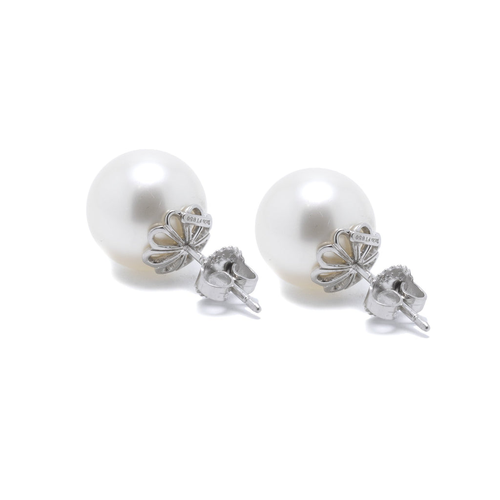 Tiffany & Co. Platinum South Sea Pearl Stud Earrings Earrings Tiffany & Co.
