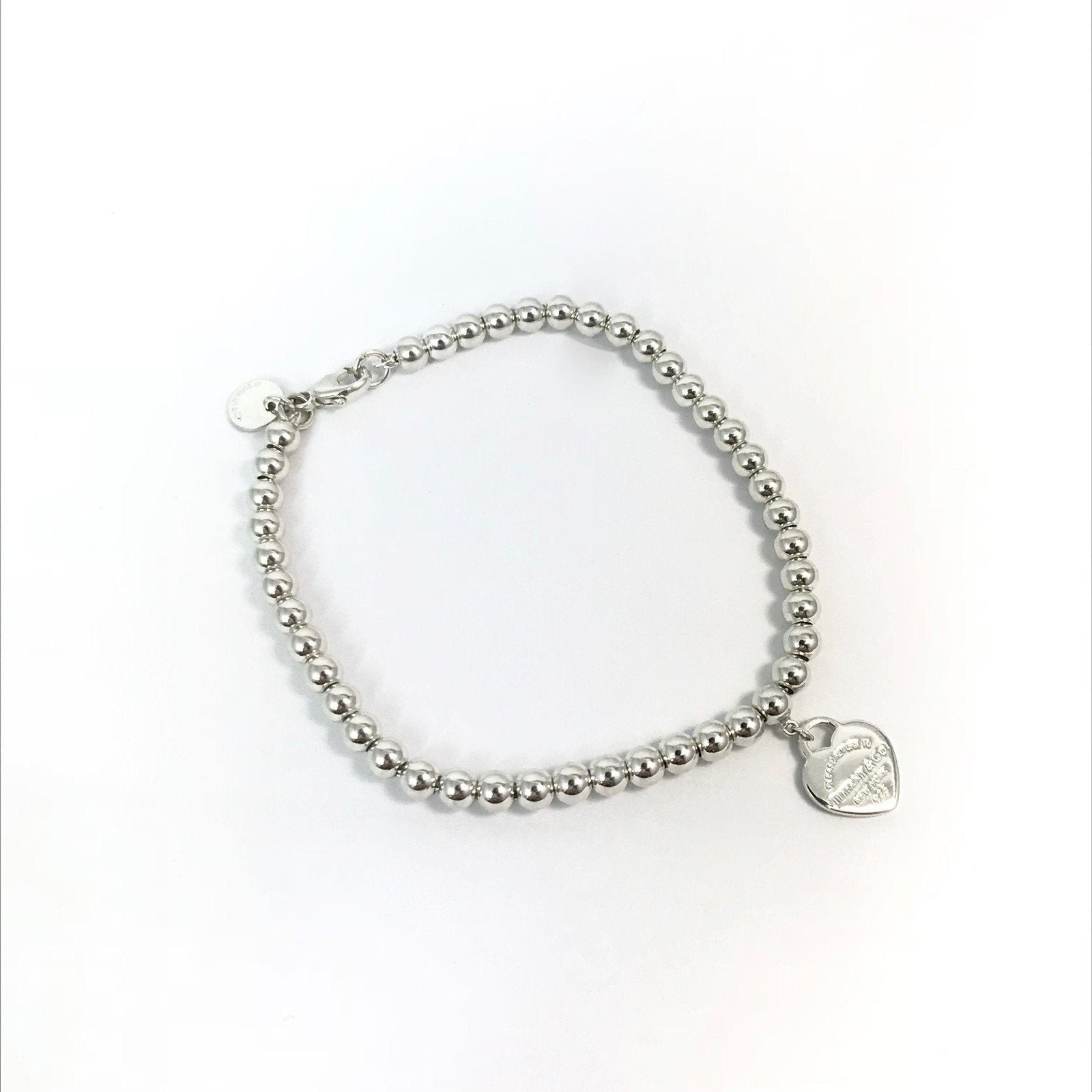 78bcde5a93e1f Tiffany & Co. Return To Tiffany Mini Heart Tag Bead Bracelet in Sterling  Silver
