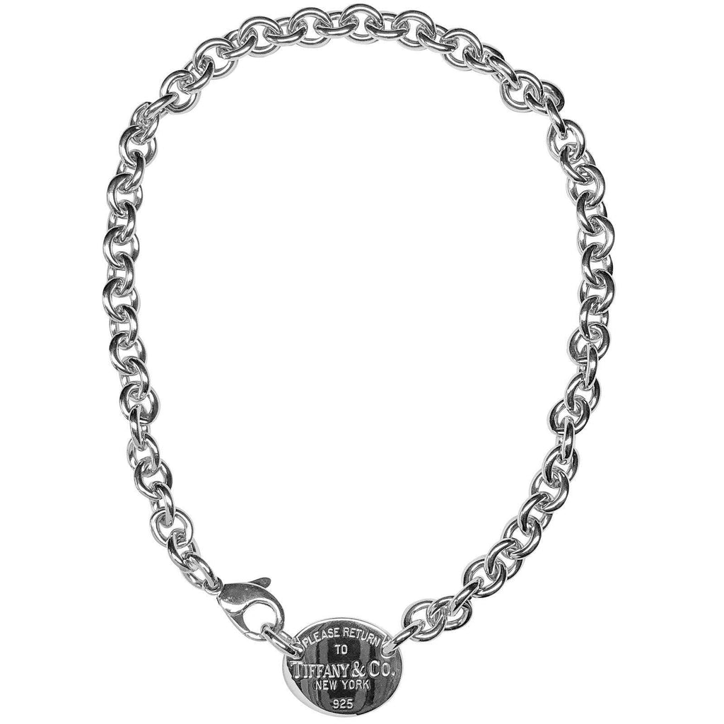 Tiffany & Co. Return To Tiffany Oval Tag Choker - Necklaces