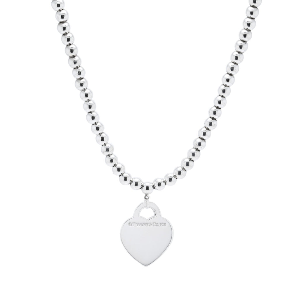 Tiffany & Co. Return to Tiffany Heart Tag Bead Necklace Necklaces Tiffany & Co.