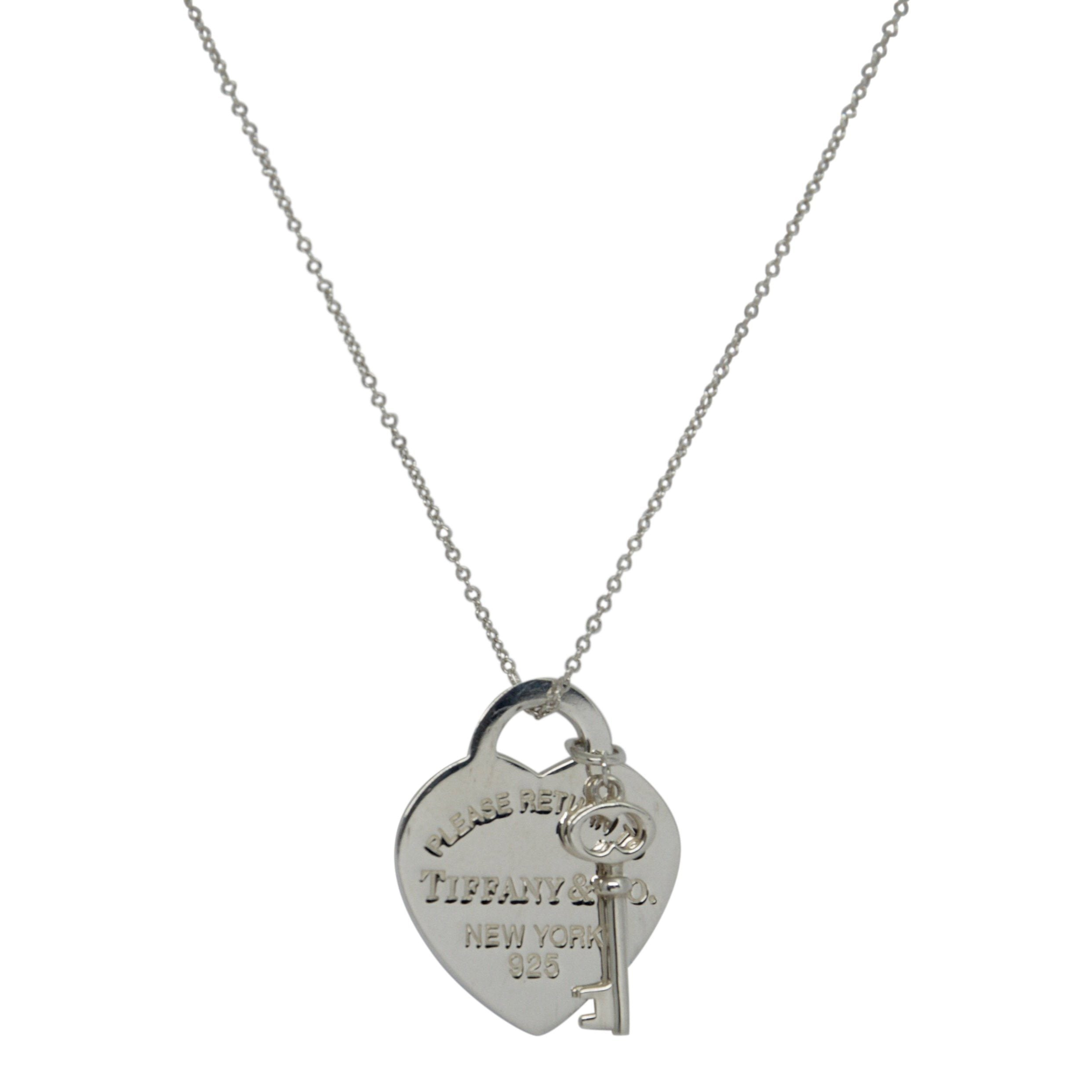 87663b6ee Tiffany & Co. Return to Tiffany Heart Tag with Key Pendant Necklace  Necklaces Tiffany ...