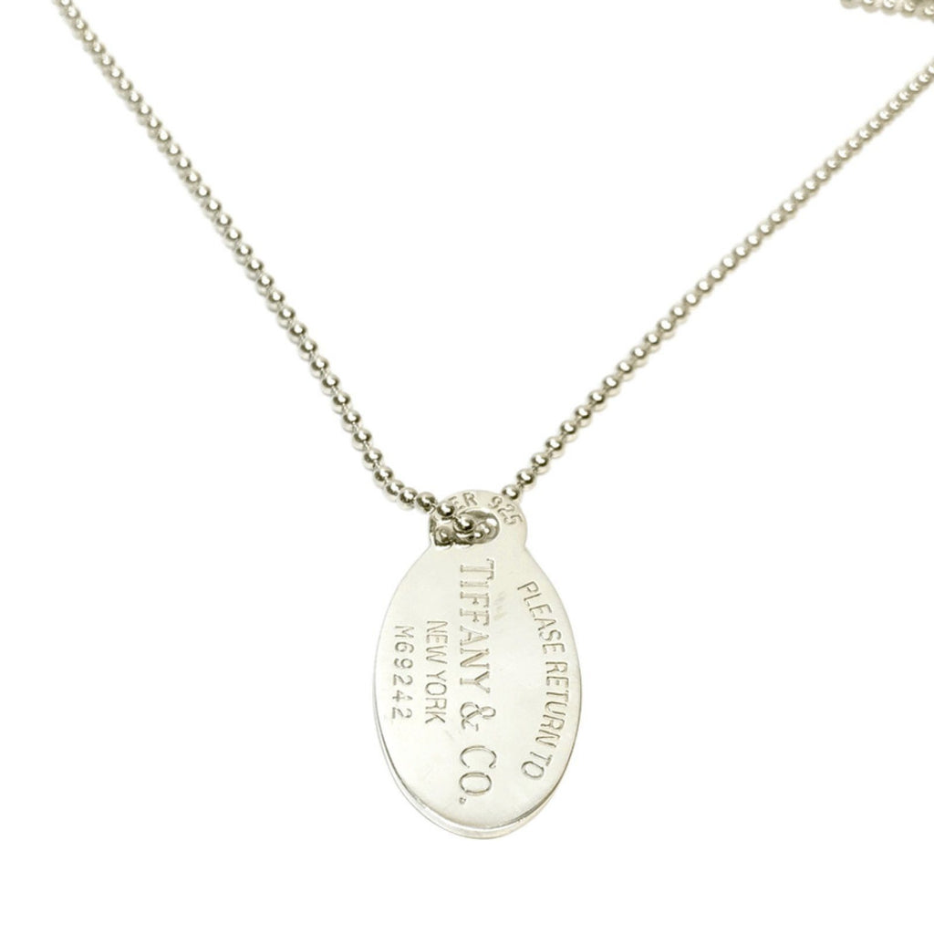 Tiffany & Co. Return to TIffany Large Oval Tag Pendant Necklace Necklaces Tiffany & Co.