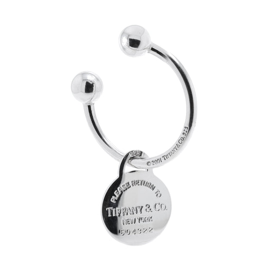 Tiffany & Co. Return to Tiffany Large Round Tag Key Ring Accessories Tiffany & Co.