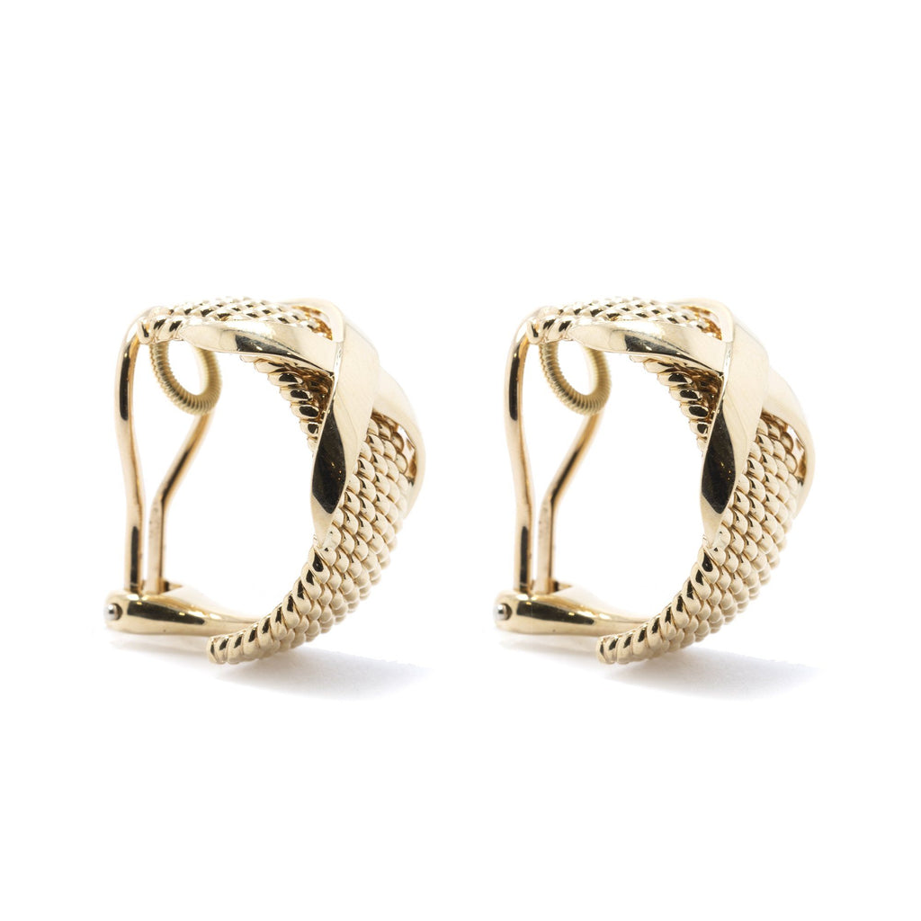 Tiffany & Co. Schlumberger 18k Gold Rope Six-Row Earclips Earrings Tiffany & Co.